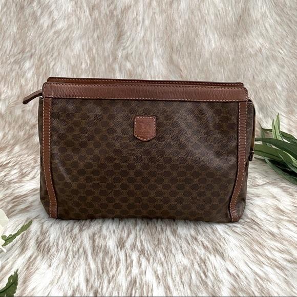 Celine Handbags - Celine Vintage Leather Clutch Bag